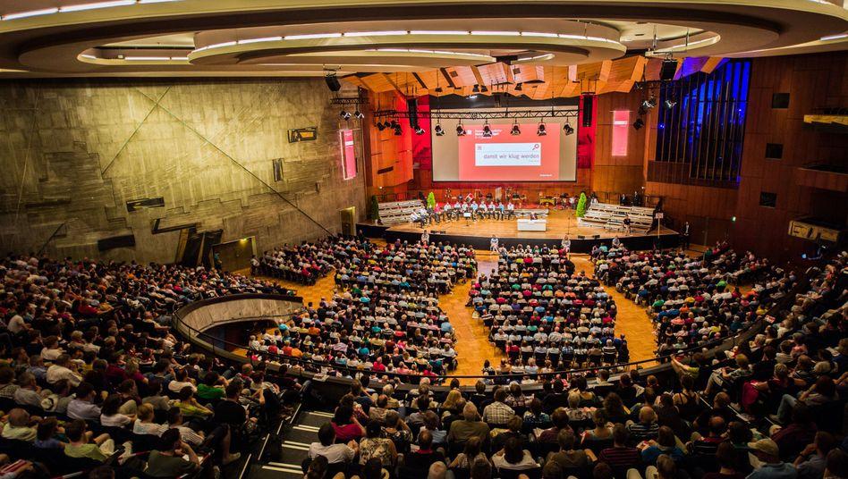 Der Beethovensaal in Stuttgart: Hier sprach Wolfgang Schäuble