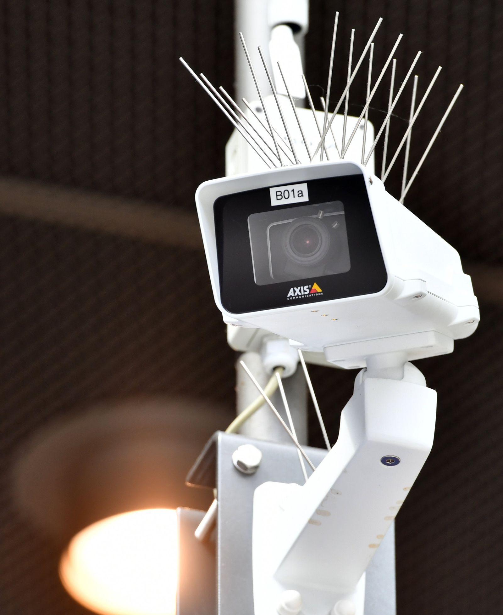 Testlauf zur Gesichtserkennung durch Überwachungskameras