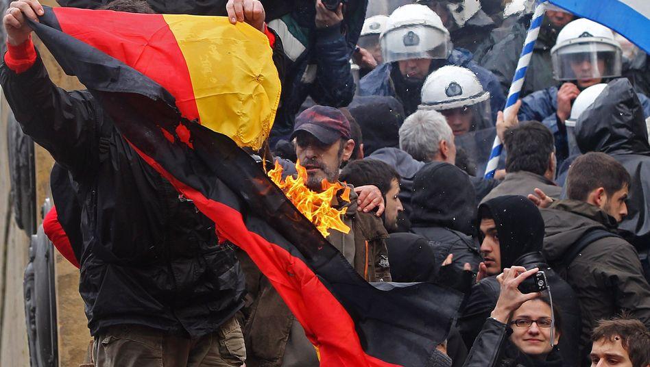 """Anti-Deutschland-Proteste in Athen (Februar 2012): """"Ein tragischer und historischer Fehler"""""""