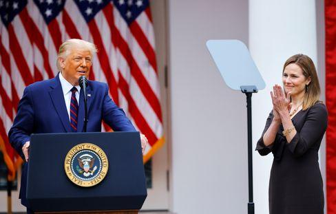 Trump und Barrett am 26.9. vor dem Weißen Haus