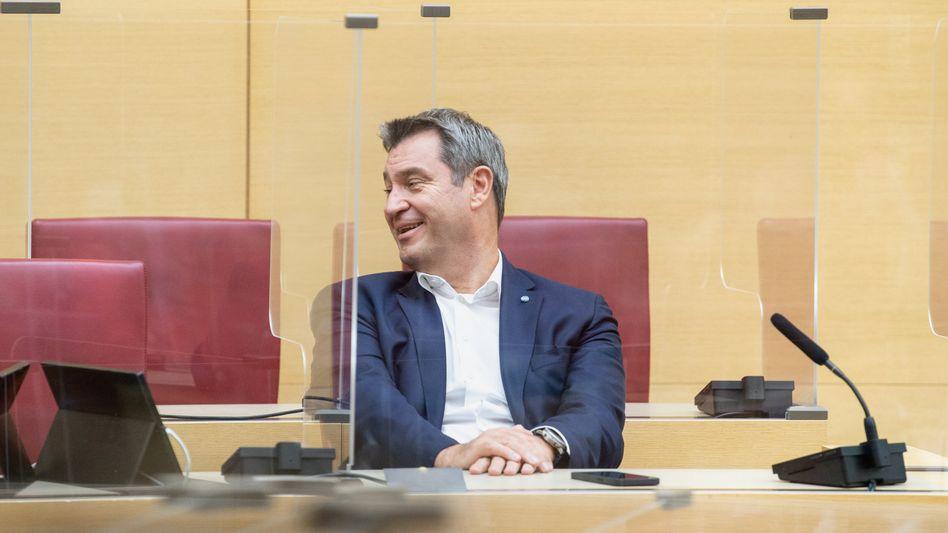 Ministerpräsident Söder im bayerischen Landtag (Archivfoto): »Steuersenkungen sind das Herzstück unserer Steuerpolitik«
