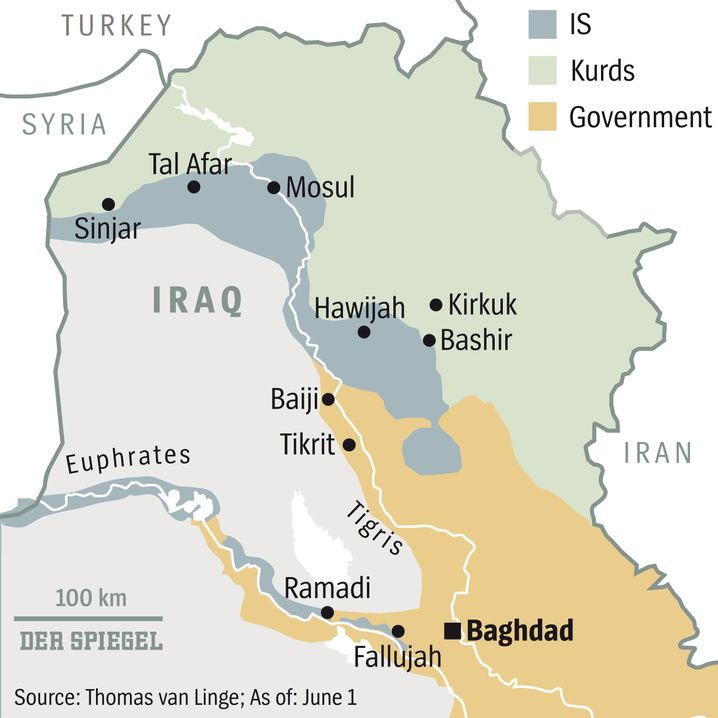 Map: Islamic State is losing territory.