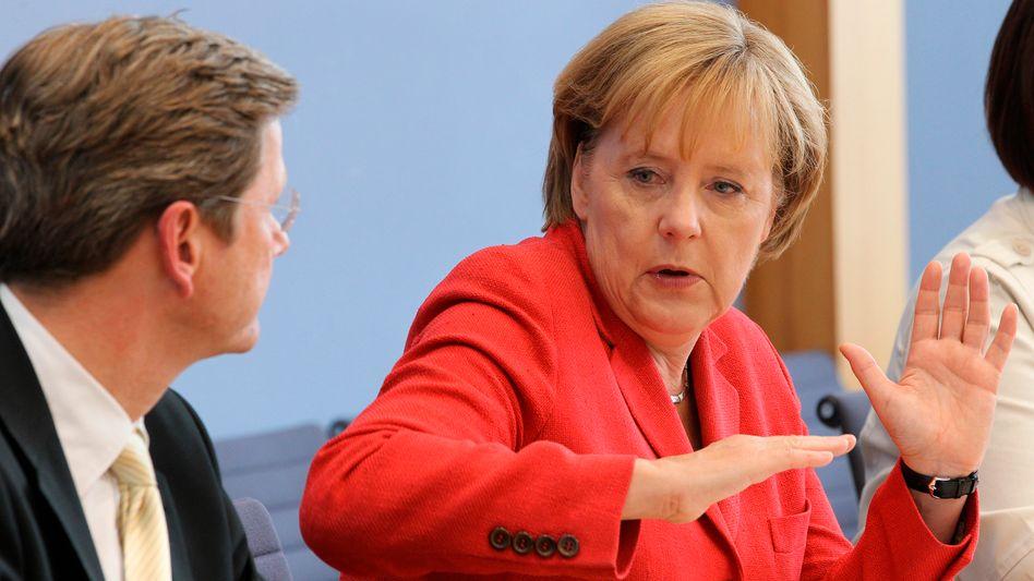 Merkel und Westerwelle: 80-Milliarden-Pakt geschnürt