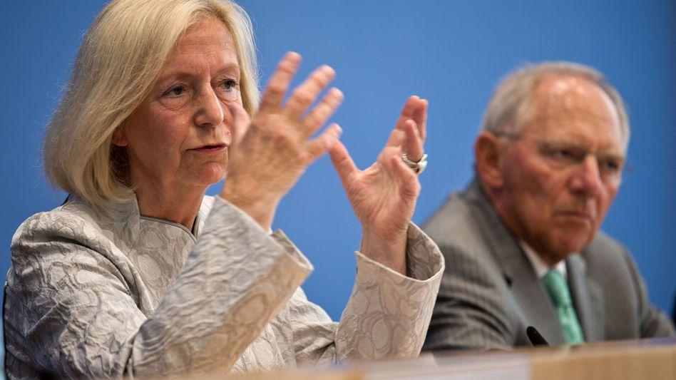 Johanna Wanka (CDU) und Wolfgang Schäuble (CDU): Streit um Bildungsmilliarden beigelegt