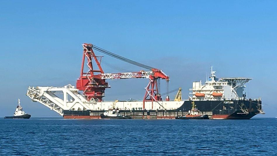 Das Verlegeschiff »Fortuna« in der Ostsee
