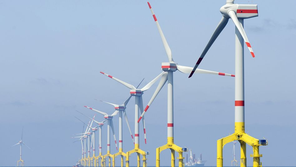 Offshore-Windpark: Stromüberangebot dank heftiger Böen