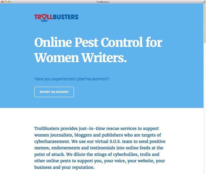 Screenshot der Trollbusters-Webseite