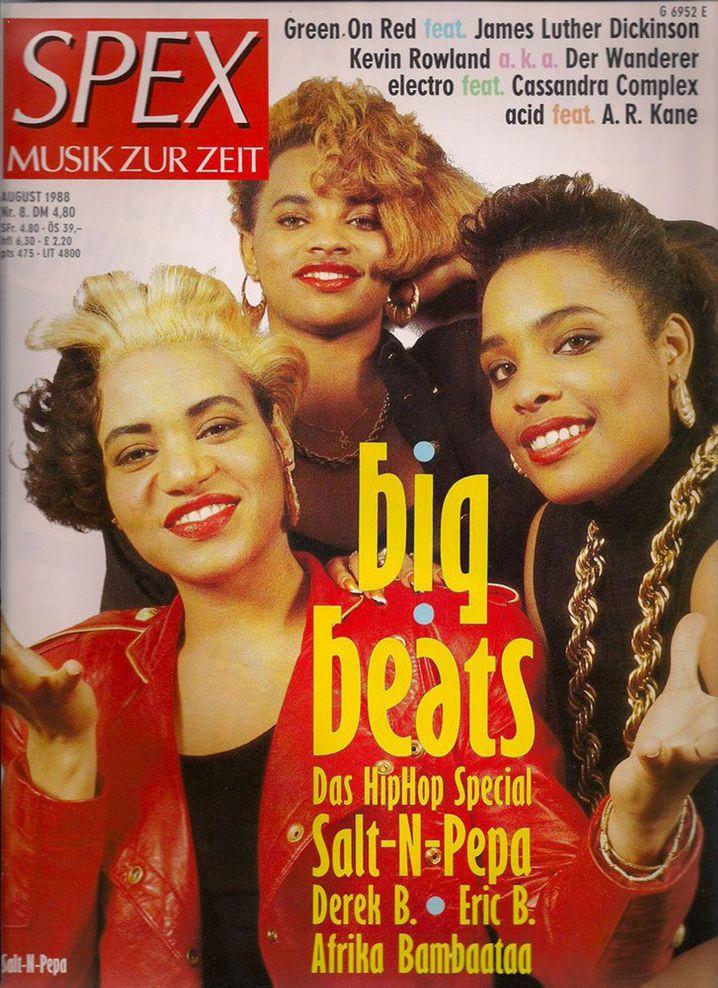 """Salt-N-Pepa-Cover 1988: """"Mit dieser Frau geht die 'Spex' in den Untergang"""","""