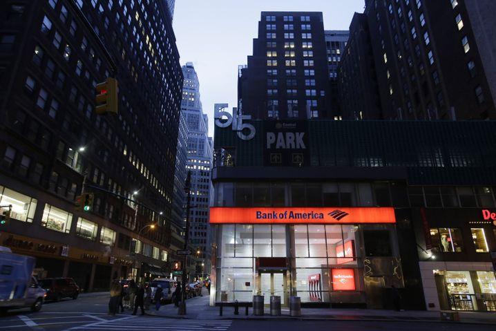 Bank-of-America-Filiale in New York: Gesunkene Rechtskosten
