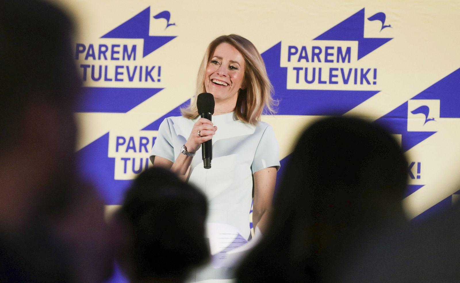 Estladn Parlamentswahl Kaja Kallas