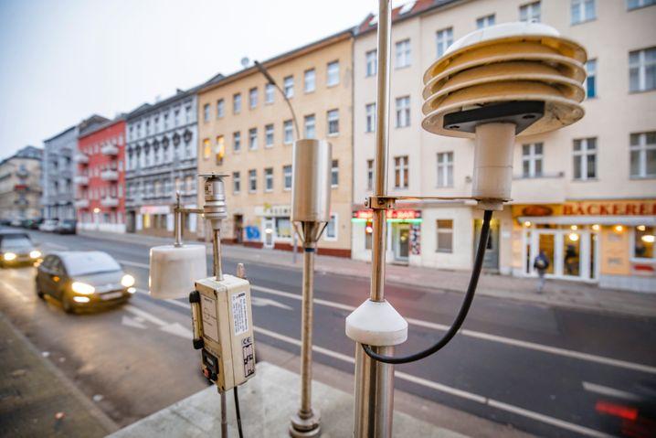 Messstelle für Luftschadstoffe in Berlin-Neukölln