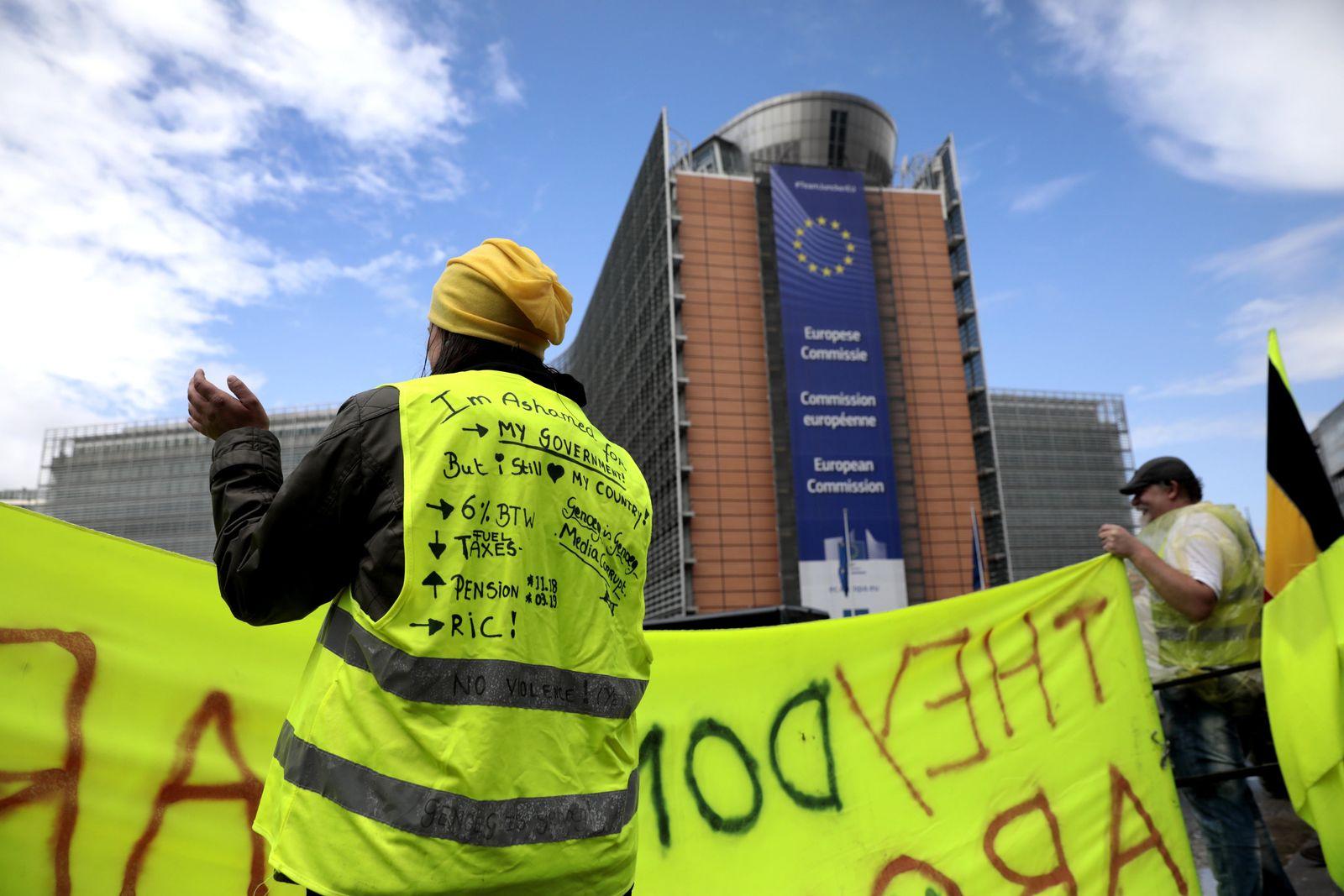"""""""Gelbwesten"""" Proteste in Belgien"""