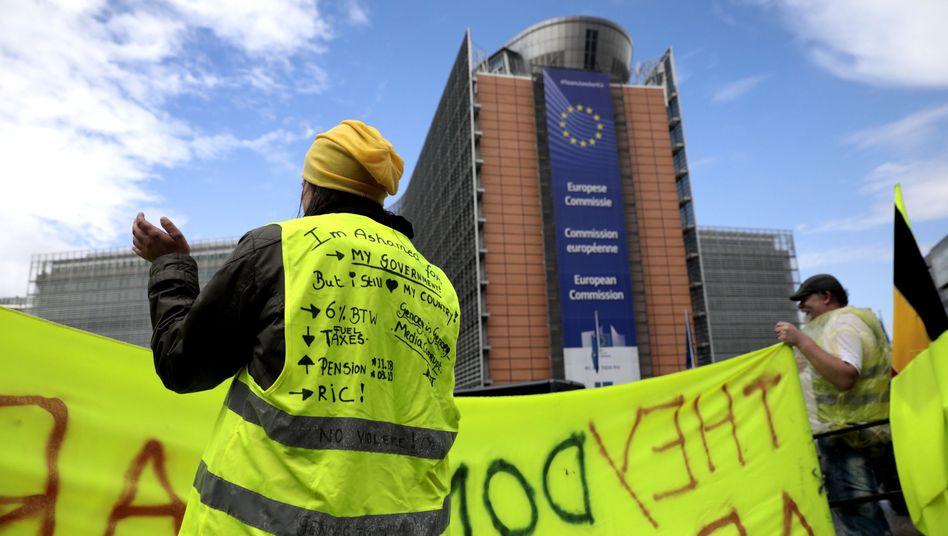 Gelbwesten-Protest in Brüssel