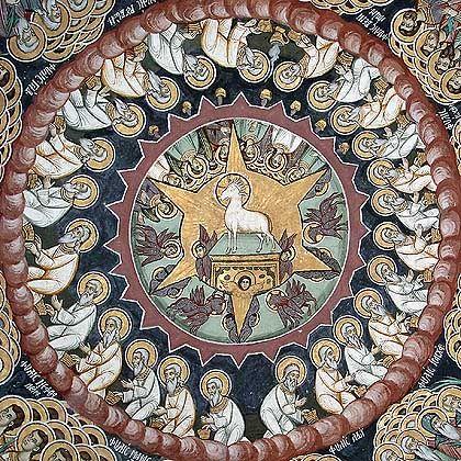 40 Märtyrer: Deckenfresko in der Kirche des Klosters Xeropotamou