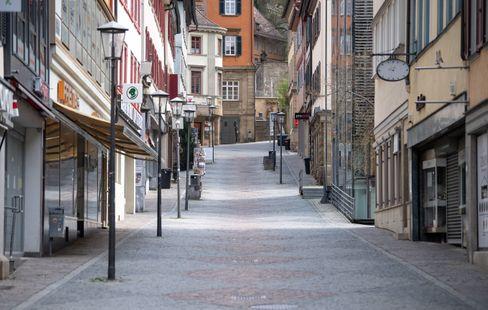 Leere Altstadt von Schwäbisch Hall: Der Landkreis in Baden-Württemberg ist derzeit stark von der Pandemie betroffen (Bild von April 2020)