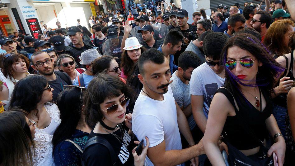 LGBTI-Aktivisten in Istanbul