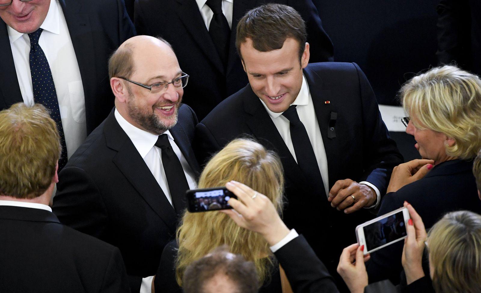 Macron und Schulz