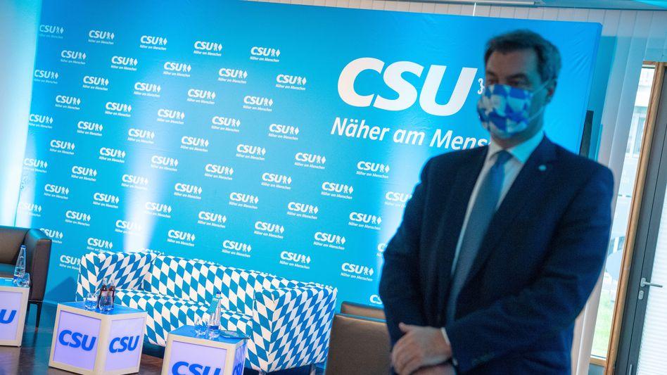 Markus Söder bringt sich vor dem ersten virtuellen CSU-Parteitag in Stellung