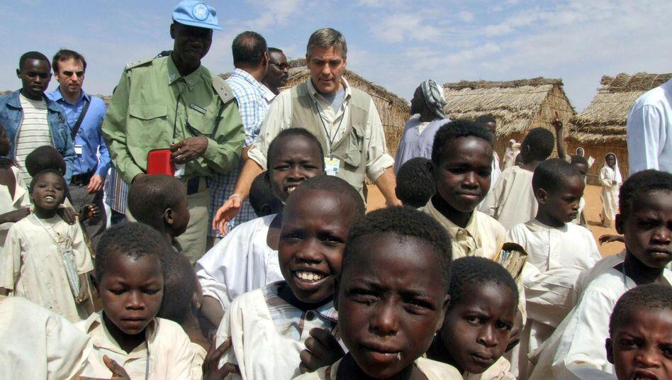 """Uno-Botschafter Clooney im Sudan: """"Entweder fair gehandelter Kaffee oder keine Werbung"""""""