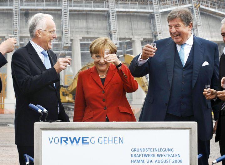 Kanzlerin Merkel, RWE-Chef Großmann (2008): Wie viel Macht haben die Lobbyisten?