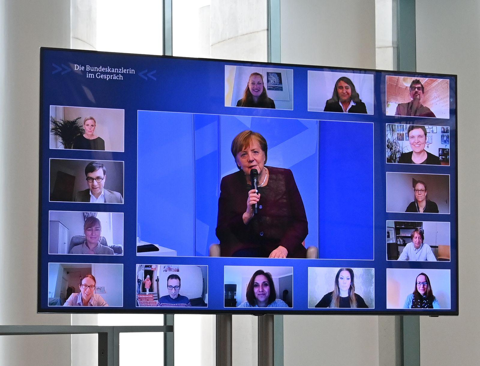 "Digitale Dialogreihe ""Die Bundeskanzlerin im Gespräch"""