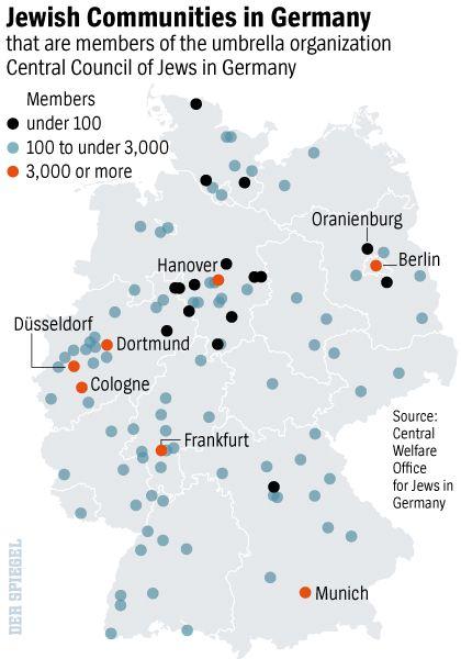 Graphic: Jewish communities in Germany.