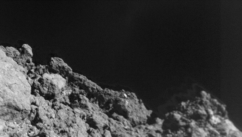 Oberfläche des Asteroiden Ryugu