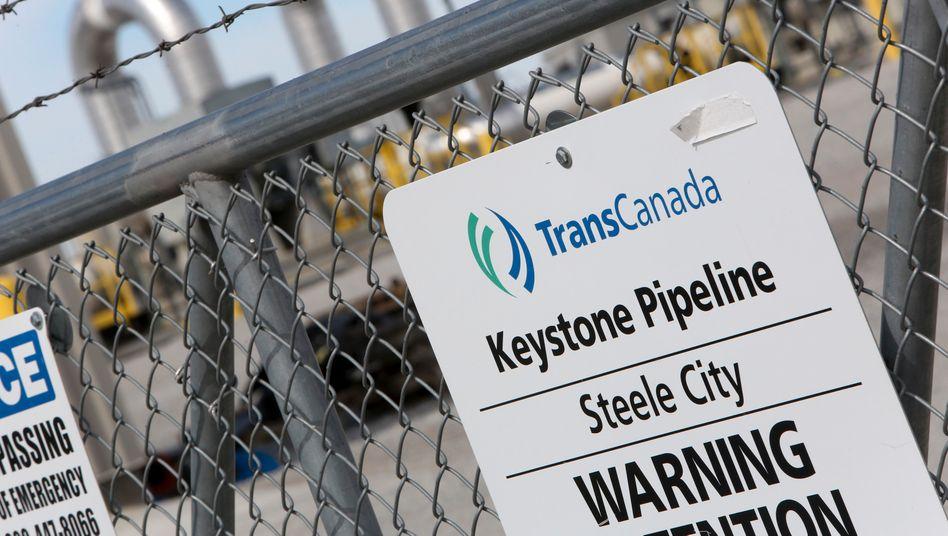Ein Abschnitt der Keystone-Pipeline im US-Bundesstaat Nebraska