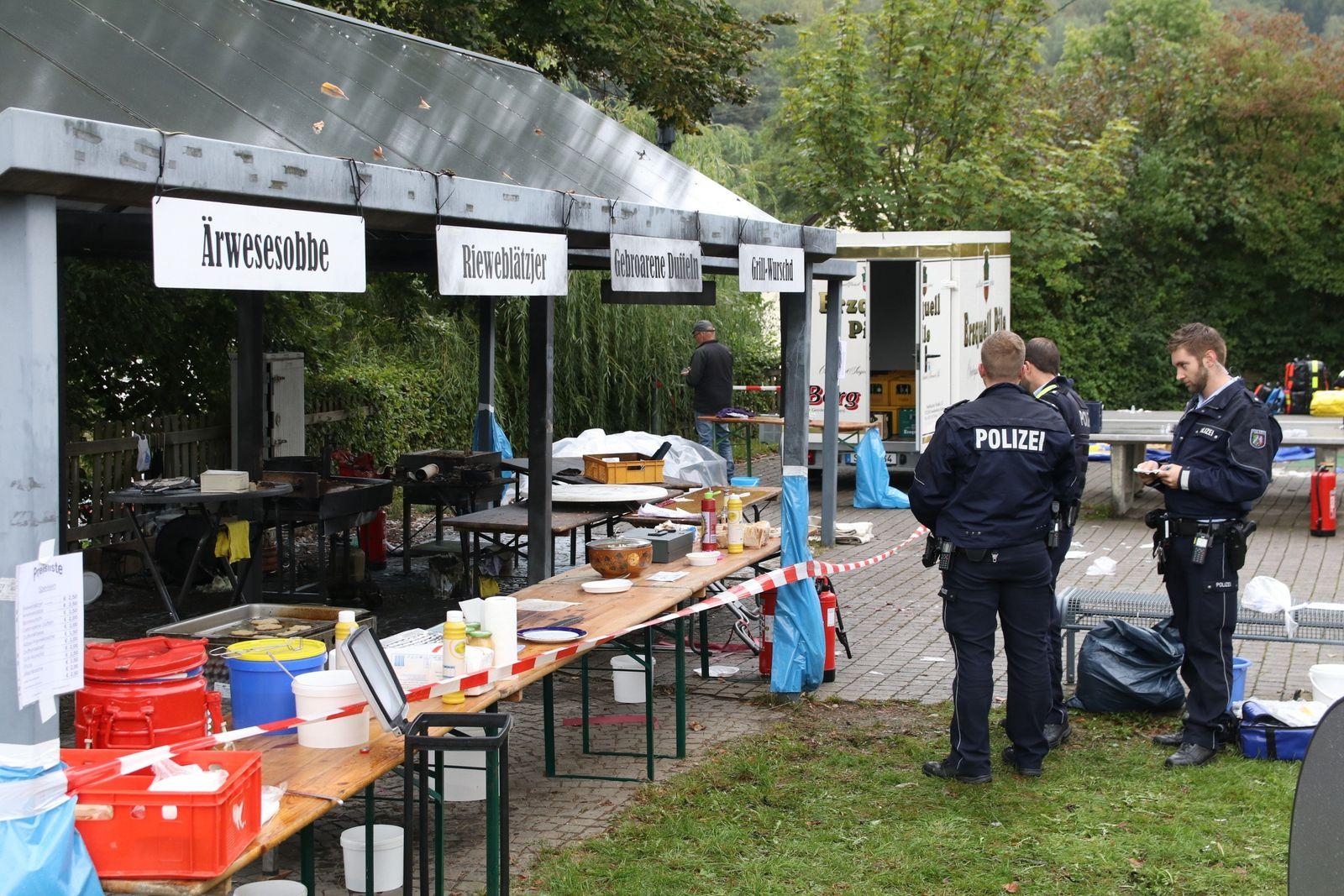 Explosion bei Brauchtumsfest - Ermittlungen