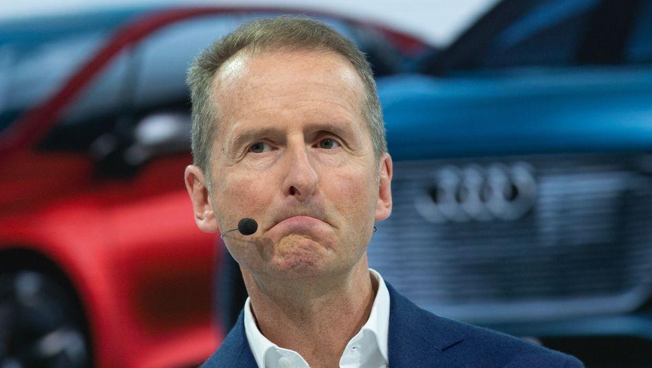 VW-Chef Herbert Diess: Nach außen gibt sich der Chef konziliant, vor Gericht agiert der Konzern beinhart