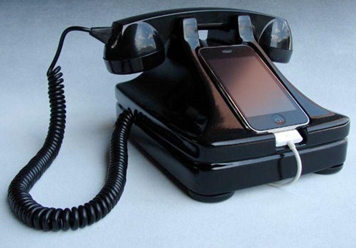 iRetrofone Base: Vintagedock macht iPhone wieder zur potentiellen Mordwaffe