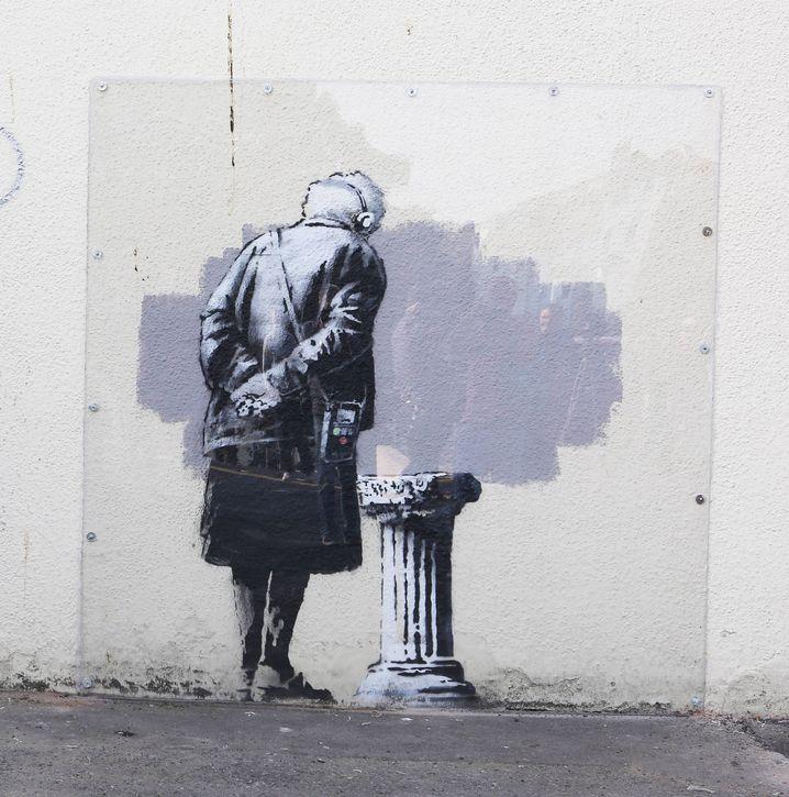 Der unverschandelte Original-Banksy von Folkestone