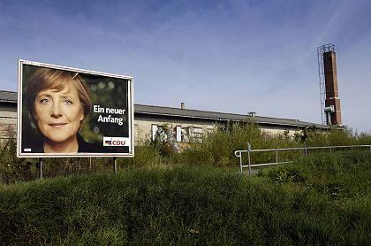 CDU-Wahlplakat: Gleichgewicht der Schrecken