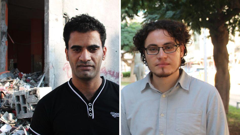 Der Palästinenser Abu Yazan (l.) und der Israeli Uri Weltmann teilen einen Wunsch: Frieden