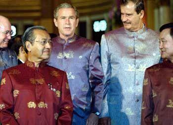 Mahathir, Bush: Der Malaysier nannte Bush einen Lügner