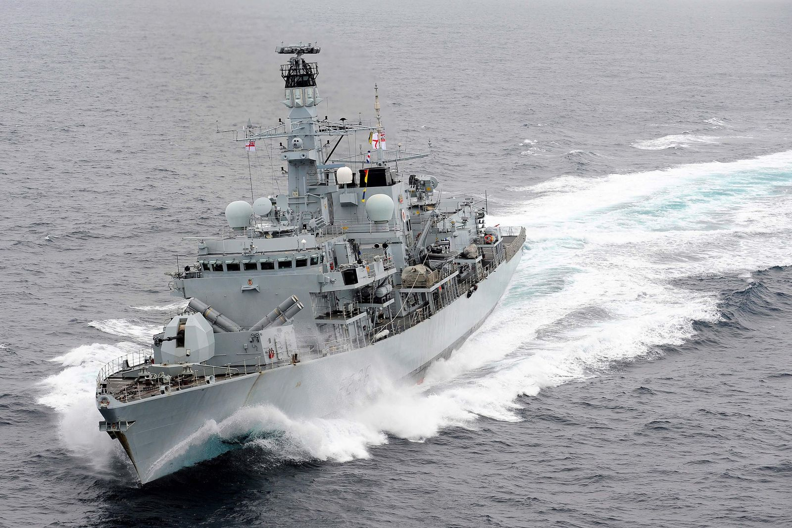 HMS Westminster readying for Operation Cougar