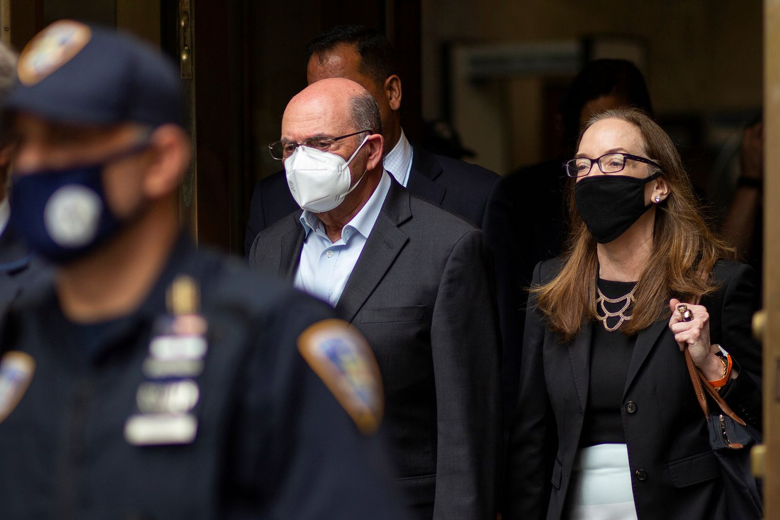Trump Organization chief financial officer Allen Weisselberg exits following his arraignment hearing in New York State Supreme Court in New York