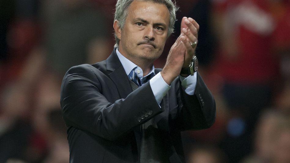 Chelseas Trainer Jose Mourinho: Beifall für Remis gegen ManUnited