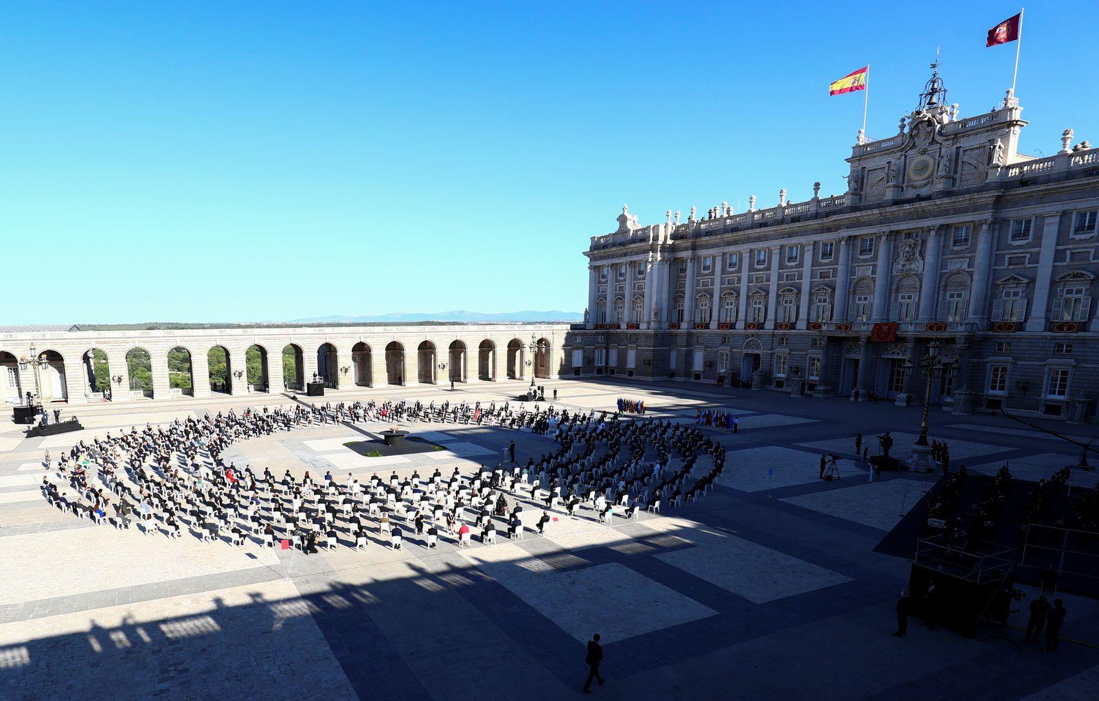 State tribute for Spain's coronavirus disease (COVID-19) victims, in Madrid
