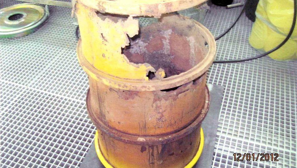 Atommüllfass im Atomkraftwerk Brunsbüttel