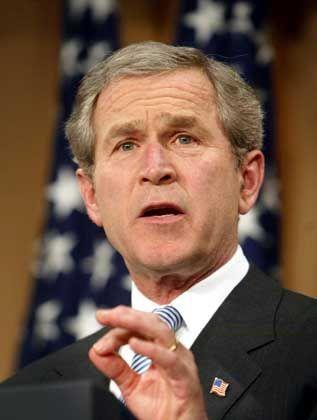 Will den Nahen und Mittleren Osten neu ordnen: US-Präsident Bush bei seiner programmatischen Rede vor dem American Enterprise Institute