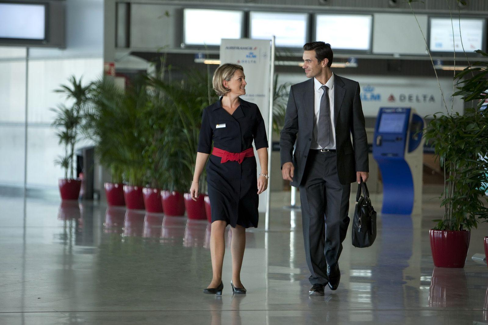 EINMALIGE VERWENDUNG Charles de Gaulle Flughafen Paris / Air france