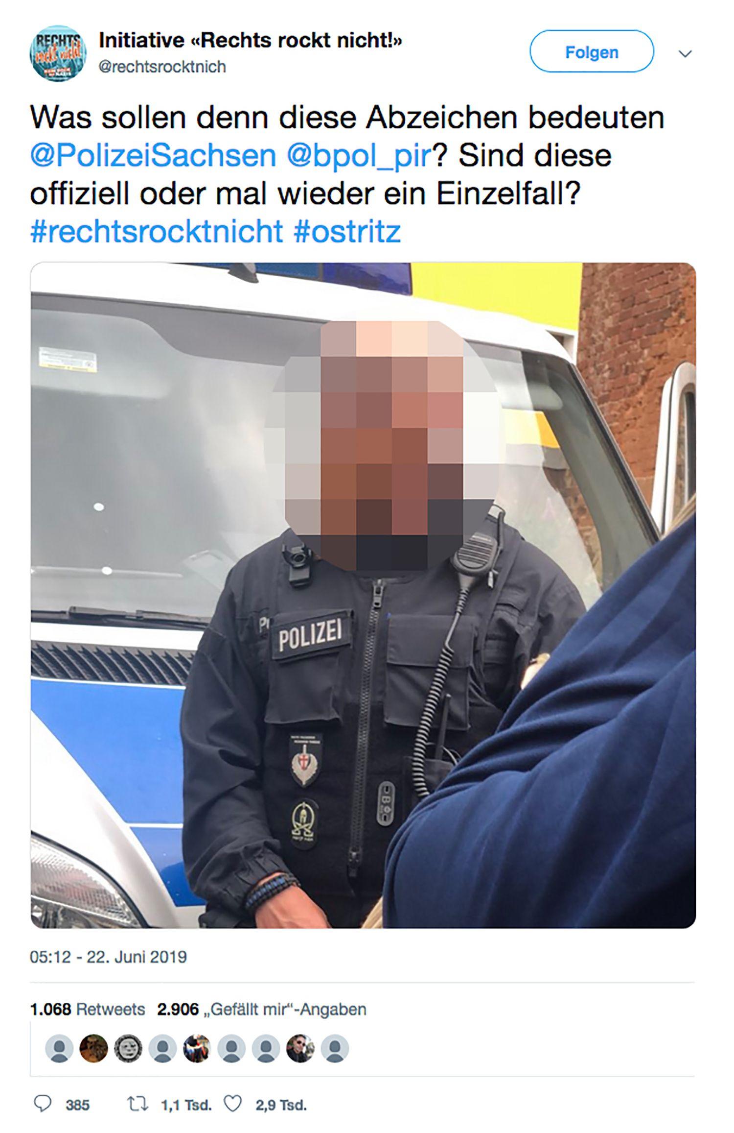 EINMALIGE VERWENDUNG NUR ALS ZITAT Bundespolizist/ Symbole Uniform NEU