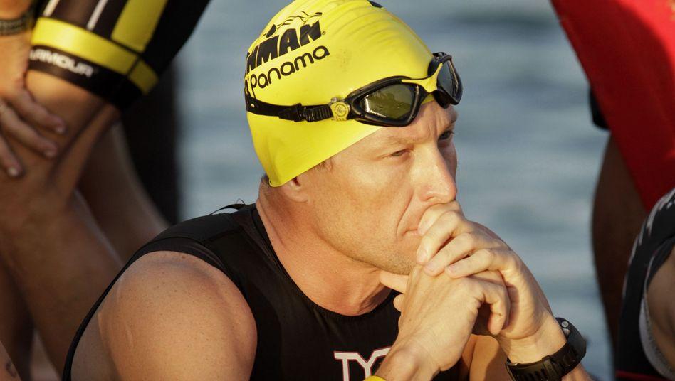 Ex-Radstar Armstrong: Künftig mit Badekappe unterwegs?
