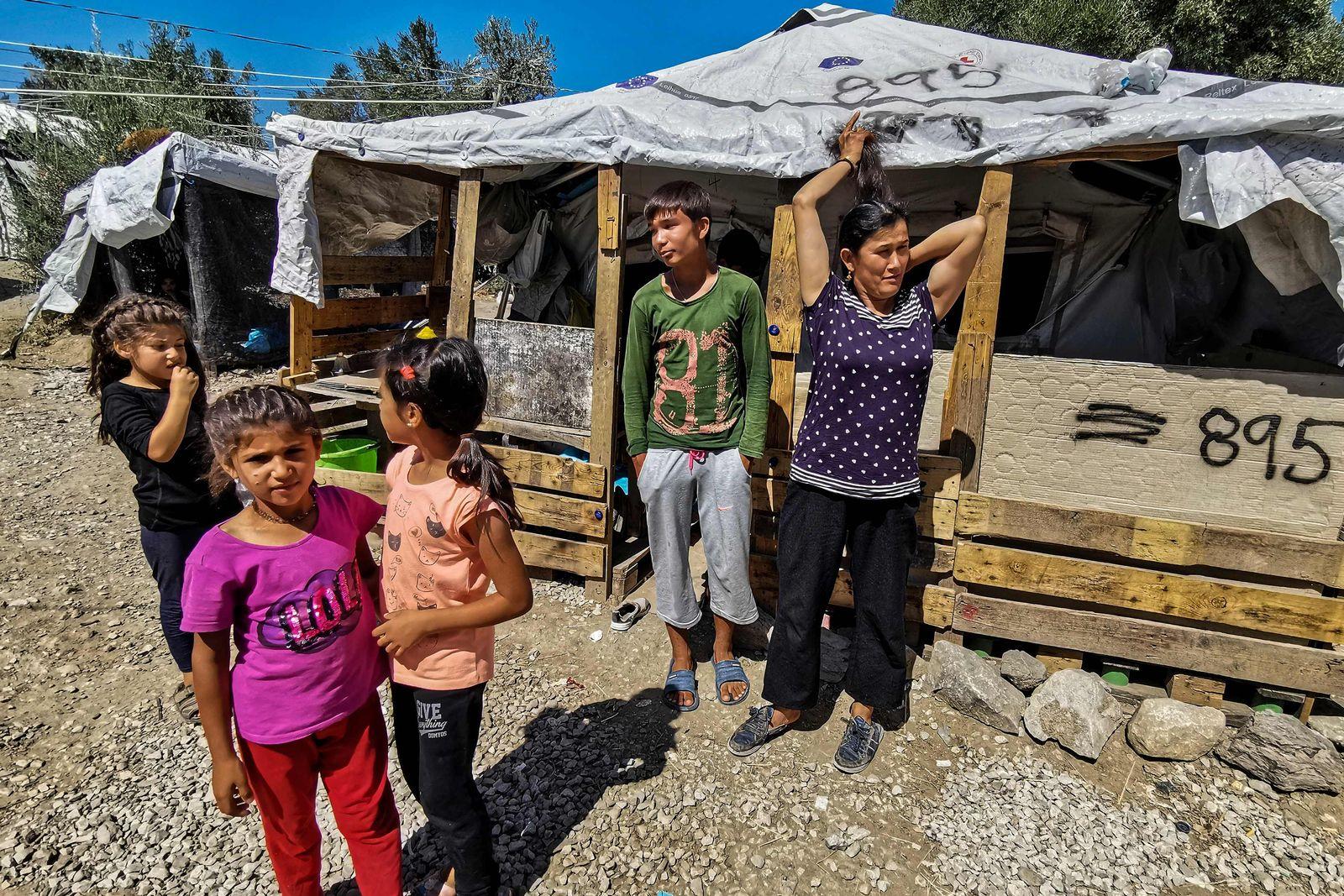 Lesbos/ Griechenland/ Flüchtlinglager