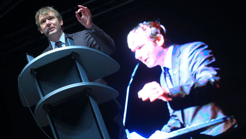 AfD-Politiker Poggenburg (im November in Magdeburg): Fünf Minuten in eigener Sache