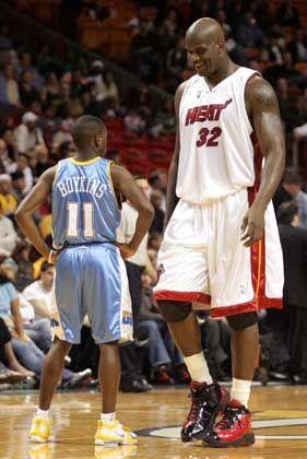 """Heat-AssO'Neal (r., mit Denvers Boykins): """"Dominantester Spieler"""""""