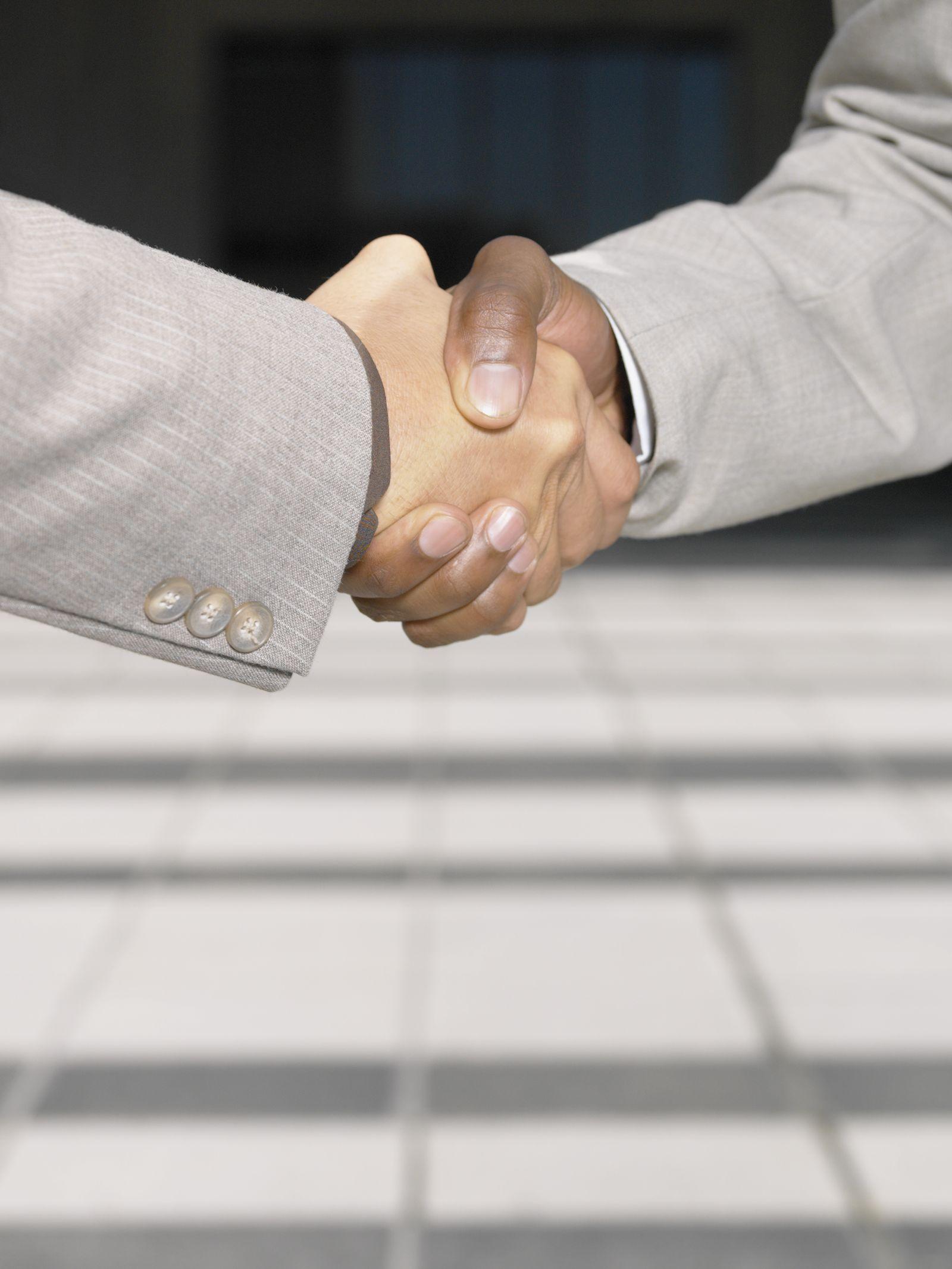 NICHT MEHR VERWENDEN! - Handshake / Händeschütteln / Handschlag