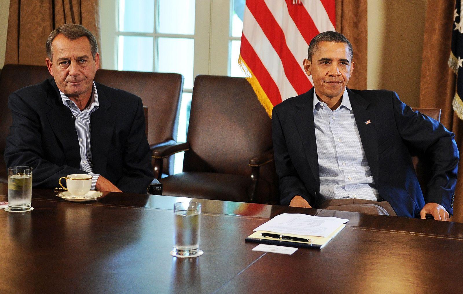 Obama Boehner Schuldenstreit