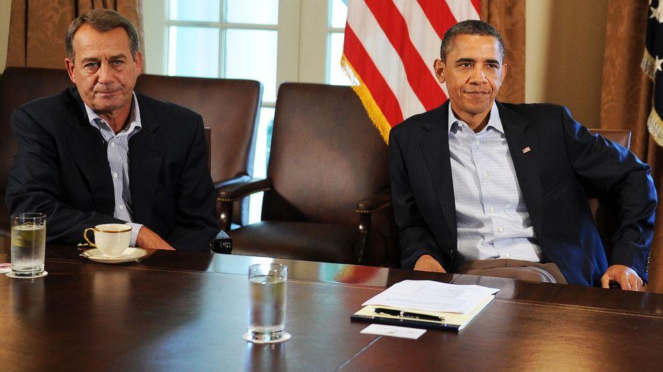 Republikaner-Sprecher Boehner, Präsident Obama: Heftiges Gerangel beider Lager
